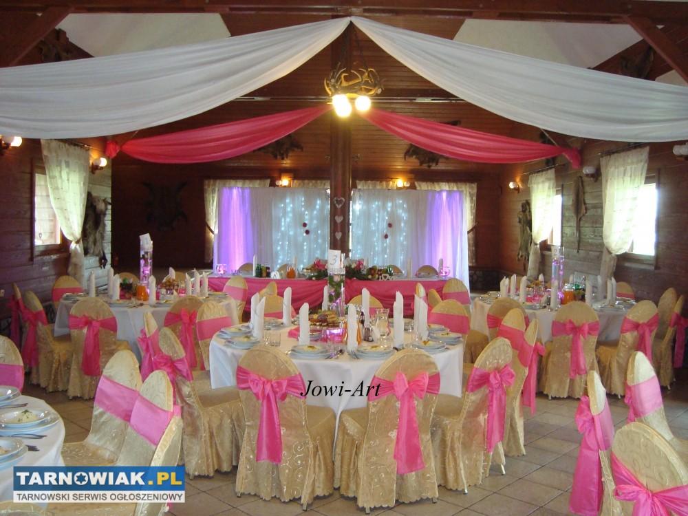 Dekoracje ślubne Dekoracja Sal 651253 Wesela Usługi Tarnowiak